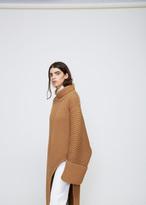 Jil Sander Dark Brown Asymmetrical Knit Tunic