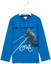 Paul Smith T-rex print long sleeve T-shirt - kids - Cotton - 4 yrs