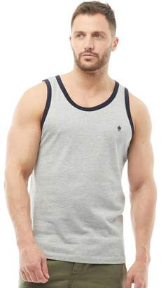 French Connection Mens Ringer Vest Light Grey Melange/Marine