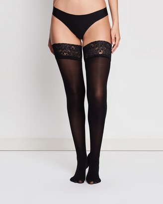 Ann Summers Lace Welt Opaque Hold-Up Stockings