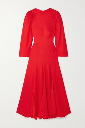 TOVE - Gaia Open-back Crinkled Silk-georgette Midi Dress - Red