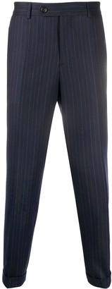Brunello Cucinelli Pinstripe Straight-Leg Trousers