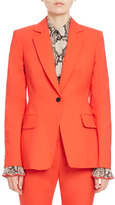 Altuzarra Bayard One-Button Fitted Blazer, Red