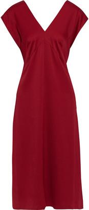Joseph Sienna Button-detailed Cady Midi Dress
