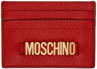 Moschino Red Logo Card Holder