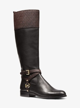 MICHAEL Michael Kors Preston Two-Tone Leather Boot