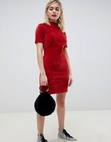 Asos Design DESIGN cord mini dress in rust