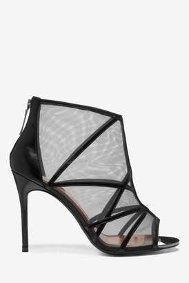 Ted Baker Womens Black Cage Heel Shoes - Black