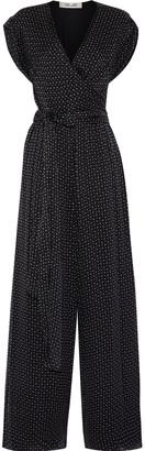 Diane von Furstenberg Cassandra Printed Silk-chiffon Jumpsuit