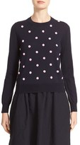 Comme des Garcons Women's Beaded Wool Sweater