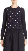 Comme des Garcons Women's Beaded Wool Sweater