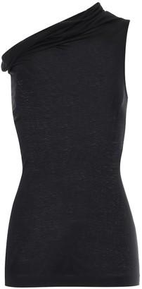 Rick Owens Lilies jersey one-shoulder top