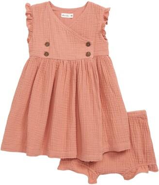 Oliver & Rain Dandelion Organic Cotton Gauze Wrap Dress
