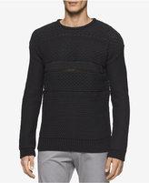 Calvin Klein Men's Multi-Textured Crew Neck Sweater