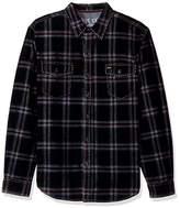 True Grit Men's Vintage Plaid Canyon Cord Long Sleeve Two Pocket Shirt
