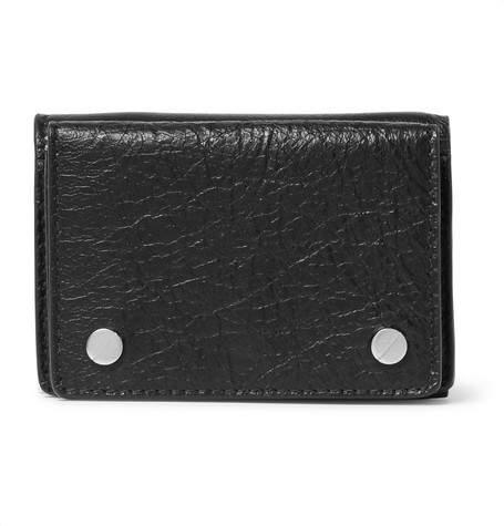 Balenciaga Arena Mini Textured-Leather Trifold Cardholder
