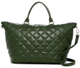 Deux Lux Quilted Faux Leather Weekend Bag