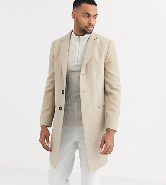 Burton Menswear Big & Tall coat in oatmeal