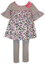 Bonnie Baby 2-Piece Stripe/Floral Tunic and Legging Set