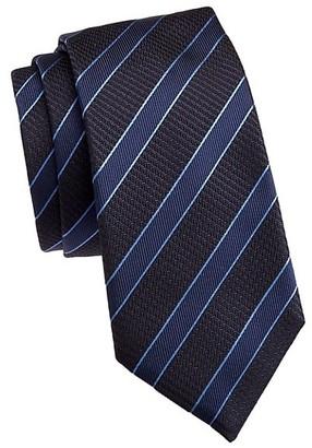 Emporio Armani Tonal Diagonal Stripe Silk Tie