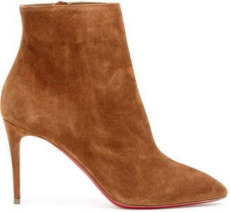 Christian Louboutin Eloise booty 85 tan suede ankle boots