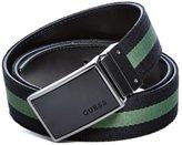GUESS Reversible Striped Plaque Belt