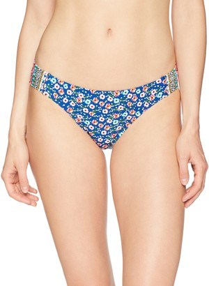 Laundry by Shelli Segal Women's Patchwork Floral Tab Side Bikini Bottom Swimsuit