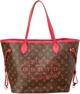 Louis Vuitton Limited Edition Pink Ikat Flower Monogram Canvas Neverfull Mm