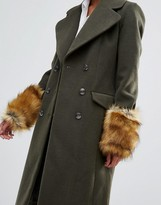 Asos Faux Fur Long Ginger Cuffs