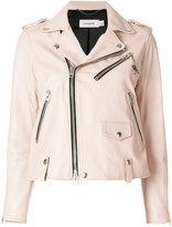 Coach biker jacket - women - Lamb Skin/Polyester/Viscose - 2