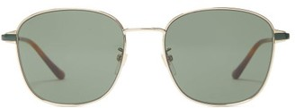 Gucci Square Metal Sunglasses - Gold