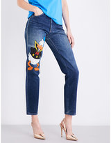 Fiorucci Donald Duck regular-fit tapered high-rise jeans