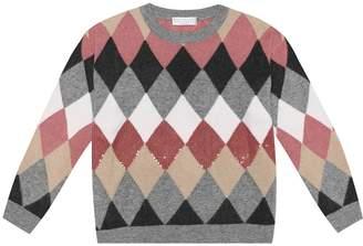 Brunello Cucinelli Kids Wool, cashmere and silk sweater