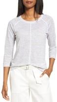 Nordstrom Women's Stripe Linen Knit Top