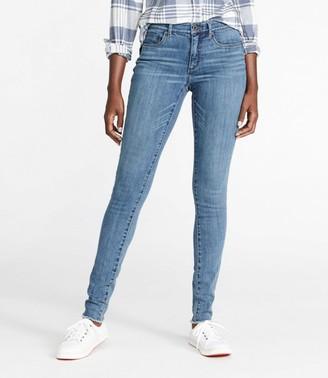 L.L. Bean Women's Signature Premium Skinny Jeans, Frayed