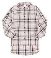 F&F Sparkle Check Long Line Shirt