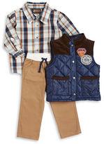 Nannette Boys 2-7 Puffer Vest, Sportshirt and Corduroys Set