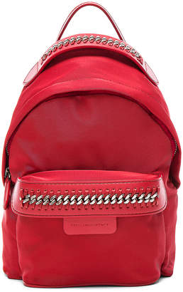 Stella McCartney Falabella Go Eco Nylon Mini Backpack in Lipstick | FWRD