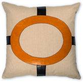 The Piper Collection Cameron 22x22 Linen Pillow, Orange