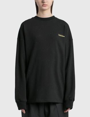 we11done Logo Print Long Sleeve T-shirt
