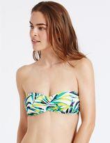 Marks and Spencer Palm Print Bandeau Bikini Top