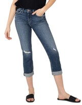 Thumbnail for your product : Silver Jeans Co. Avery Ripped Cropped Jeans