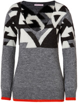 Abstract Knit Pullover in Grey