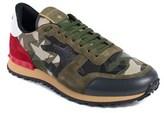 Valentino Mens Green Rockrunner Camustars Sneakers.