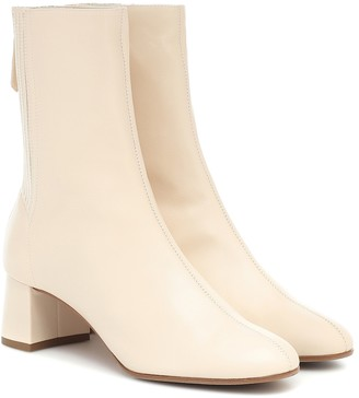 Aquazzura Saint HonorA 50 leather ankle boots