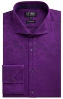 Stvdio by Jeff Banks Violet Floral Jacquard Shirt