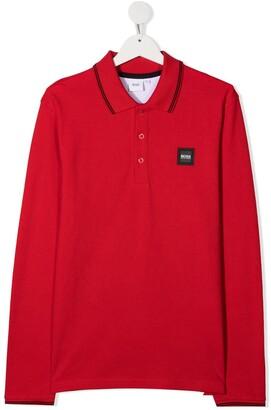 Boss Kidswear TEEN logo patch polo shirt