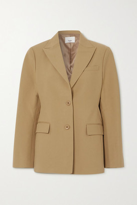 Frankie Shop Cotton Blazer - Camel
