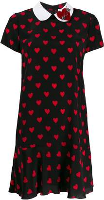 RED Valentino hearts printed dress