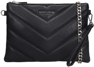 Marc Ellis Suami Clutch In Black Leather